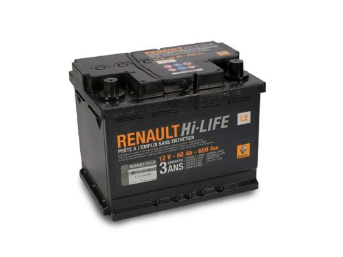 Batteria Boutique L2 60aH 600A originale Renault Dacia 7711238597