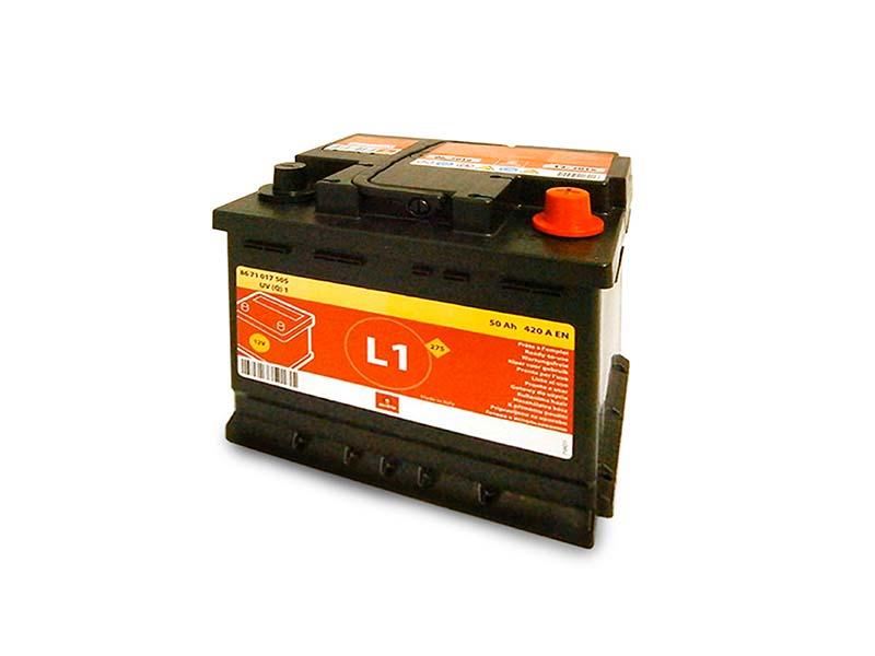 Batteria Motrio L1 50aH 420A originale Renault 7711765593